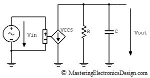 VCCS with RC network