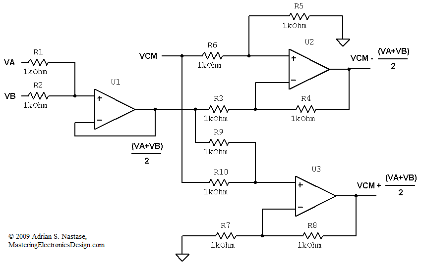 differential output circuit mastering electronics design