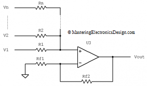 n-input-summing-amplifier