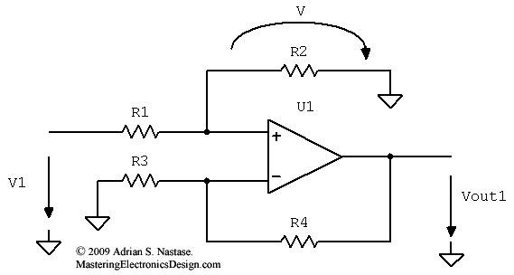 How To Derive The Differential Amplifier Transfer Function