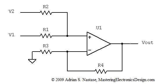 solving the summing amplifier  u2013 mastering electronics design