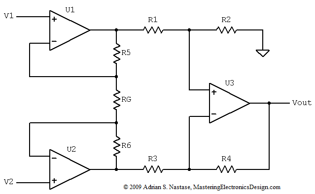 how to derive the instrumentation amplifier transfer function  u2013 mastering electronics design
