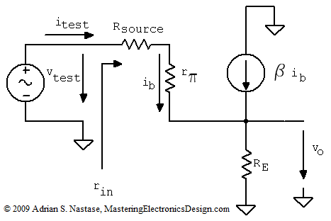 the common collector amplifier input and output resistance the rh masteringelectronicsdesign com