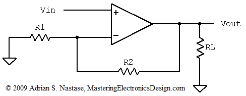 The Non-Inverting Amplifier Output Resistance – Mastering