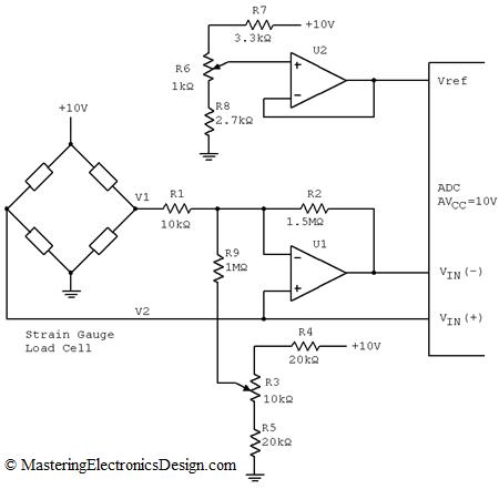 Measure a Wheatstone Bridge Sensor Signal with an ADC – Page